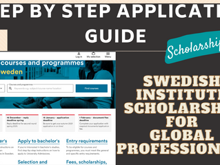 Step by Step Application Guide (Swedish Institute Scholarship for Global Professionals)