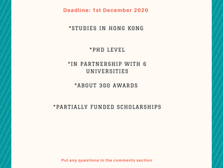 Hong Kong Fellowship Scheme I Scholarships for International Students