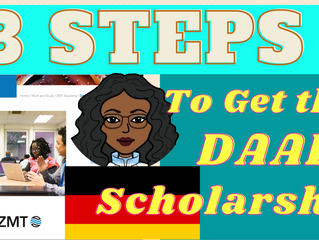 Step by Step Application guide for the DAAD/ZMT Scholarship for international students in Germany