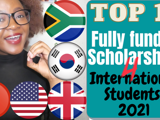 Top 10 Fully Funded Scholarships for international students in 2021