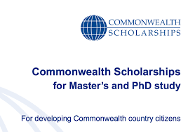 Commonwealth Masters & PhD fully funded Scholarships in UK for Developing Countries 2018