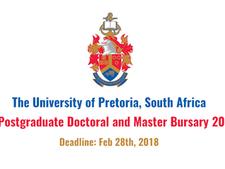 University of Pretoria Bursary for African/International Students in South Africa, 2018