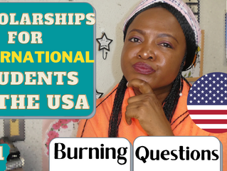 Scholarships for International Students in USA | Burning Questions (Study in the USA)