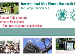 Fully-Funded PhD Fellowships at the International Max Planck Research School for Computer Science in