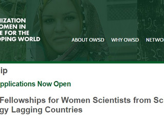 Fully Funded Organization for Women in Science  Postgraduate Training Fellowships for Women from Dev