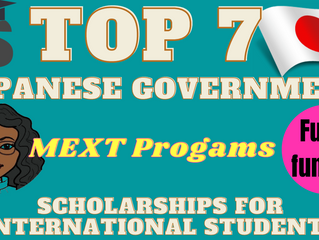 Top 7 Japanese Government (MEXT) Scholarship for international students Programs (Fully funded)