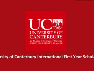 University of Canterbury International First Year Undergraduate Scholarships