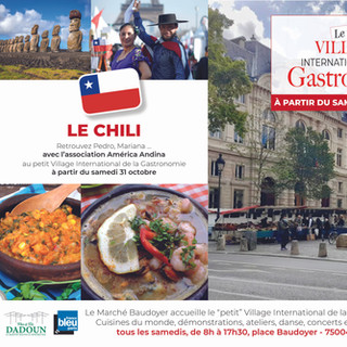 Petit Village - Marché Baudoyer- le Chili