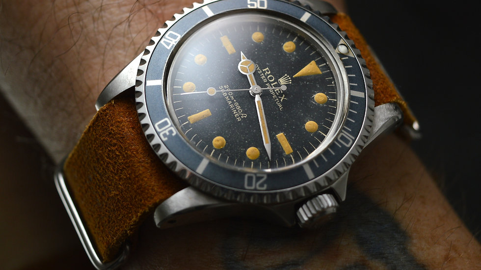 Rolex Submariner 5513 Gilt pointed crown from 1963