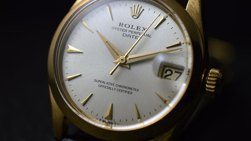Rolex An Ultrarare Date Chronometer 18k Gold Top Condition