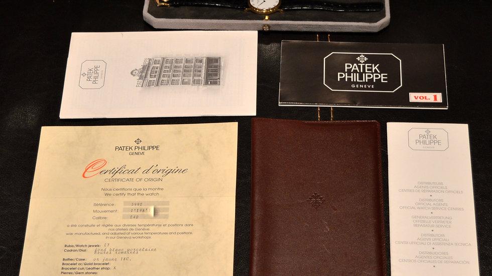 Patek Philippe Full Set Men's Calatrava 18k Solid Gold 3992 Automatic Top