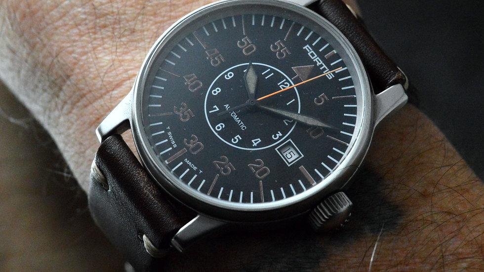 Fortis Men's Flieger Pilot Automatic Vintage Oversized 40mm Aviator Watch Date