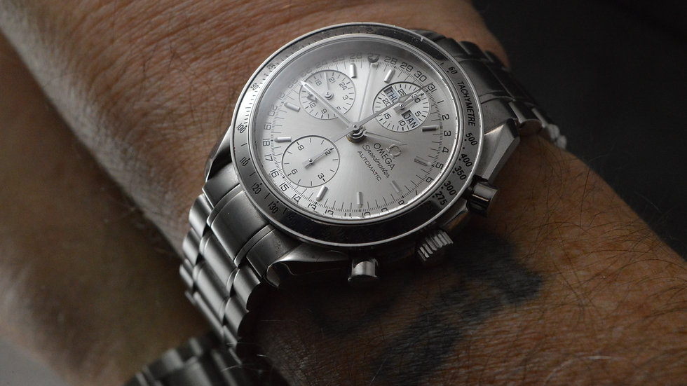 Omega Men's Day Date Speedmaster Automatic Box & Papers 39mm