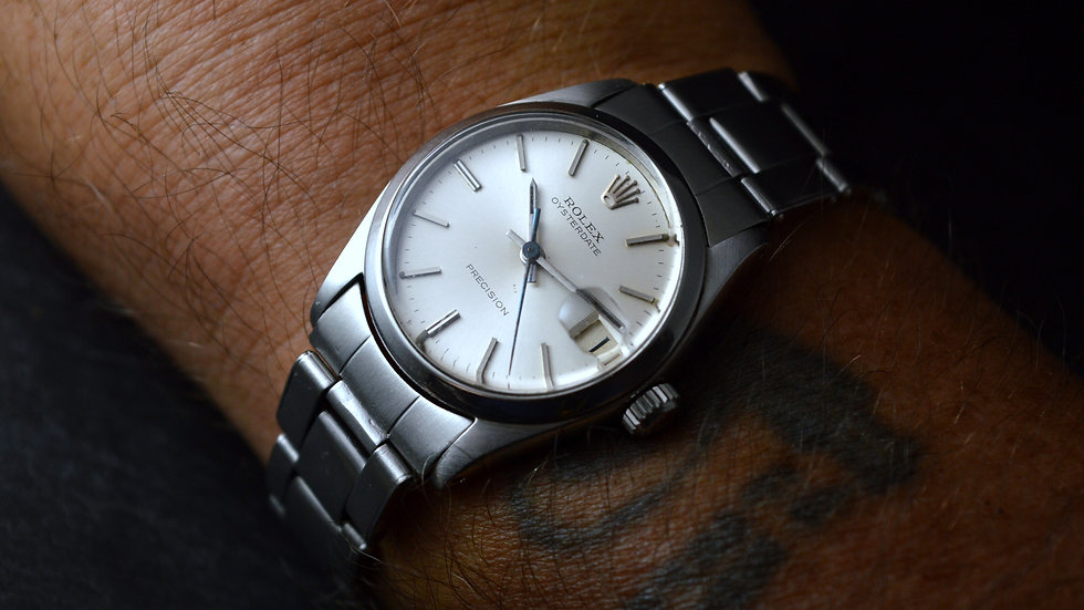 Rolex 31mm Oysterdate Precision Medium 6466 With Riveted Band 7205