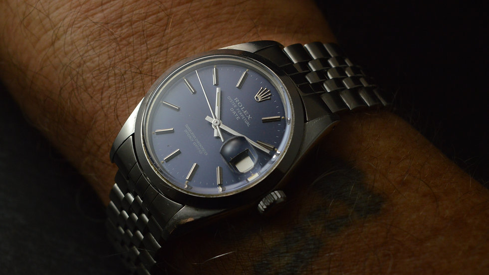 Rolex Ultra Rare Full Set Oyster Perpetual Date 1972 Gorgeous Jubilee' Band