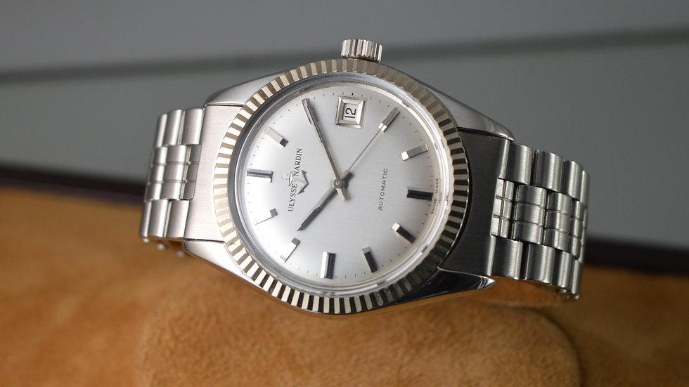 Ulysse Nardin Men's Steel 36000 A/h Automatic Vintage Chronometer Watch