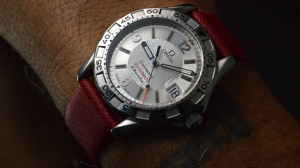 Omega Men's Seamaster Omegamatic Date Automatic Quartz Stainless Steel 36mm