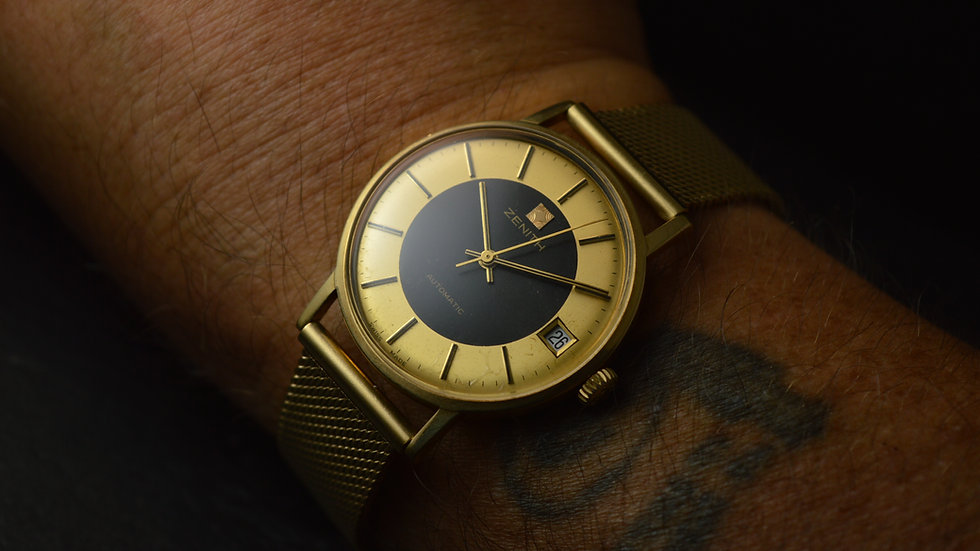 Zenith A Stunning Automatic Vintage Tutone Dial Calatrava Full Set 1986 35mm