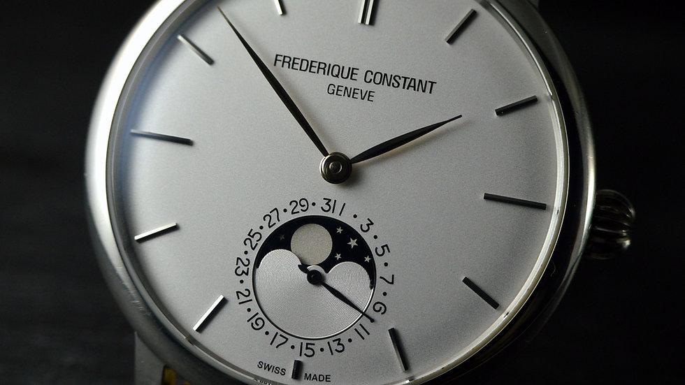 Frederique Constant Full Set Manufacture Slimline Moonphase Oversized Steel 42mm