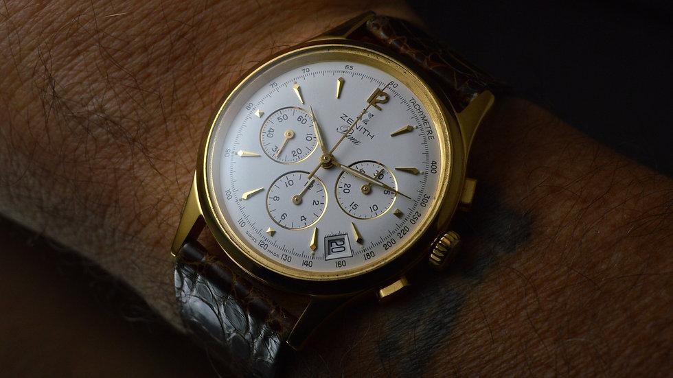 Zenith Men's Prime Chronograph El Primero Cal.420 Hand Winding 38mm Gold Plated
