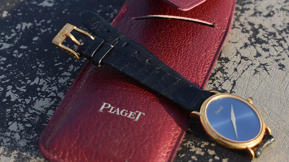 Piaget Lapis Lazuli 18k Gold Ladies Watch Cal. 9p Gold Buckle