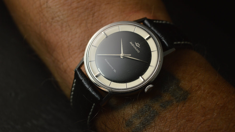 """Movado The Most Beautiful Kingmatic """"s"""" Ever Seen, Steel. 34mm"""
