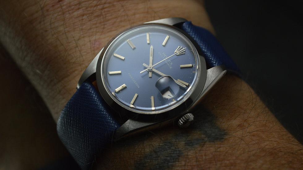 Rolex Men's Oysterdate Precision Stunning Blue Dial 34mm Hand Winding