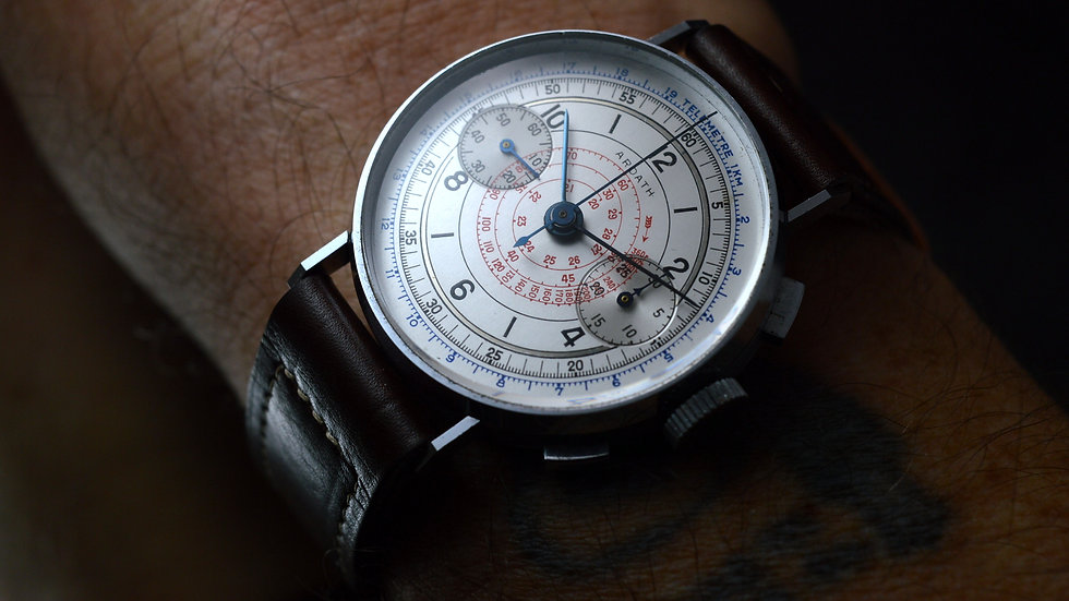 Ardath Ultrarare Unworn Chronograph From 40' Untouched 36mm Coin Edge Case