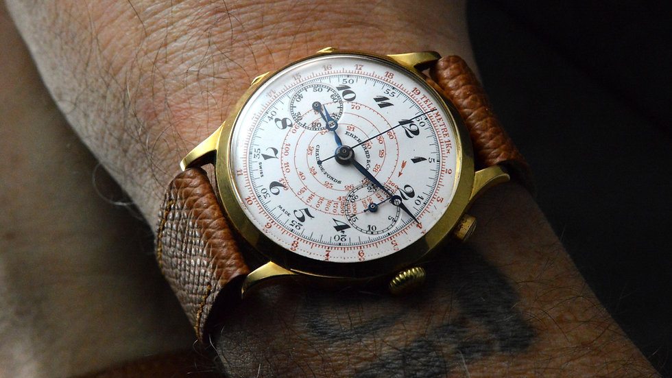 Eberhard & Co. Incredible Pre Extra-fort Monopusher Chronograph 18kt Hinged Case