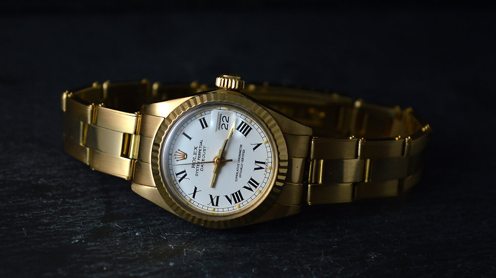 Rolex A Gorgeous Lady-datejust Buckley Dial Oyster Band Serviced