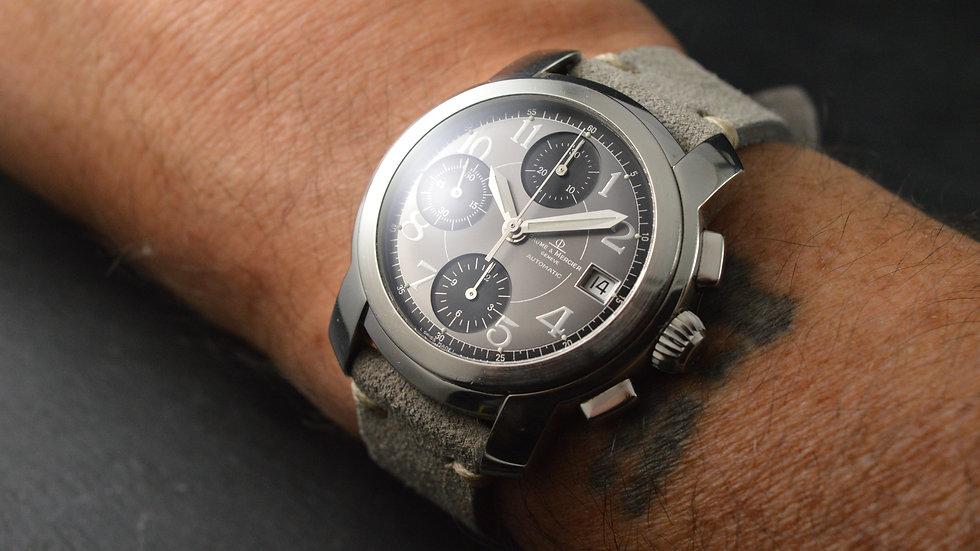 Baume & Mercier Men's Capeland Steel Automatic Chronograph 39mm Grey Dial