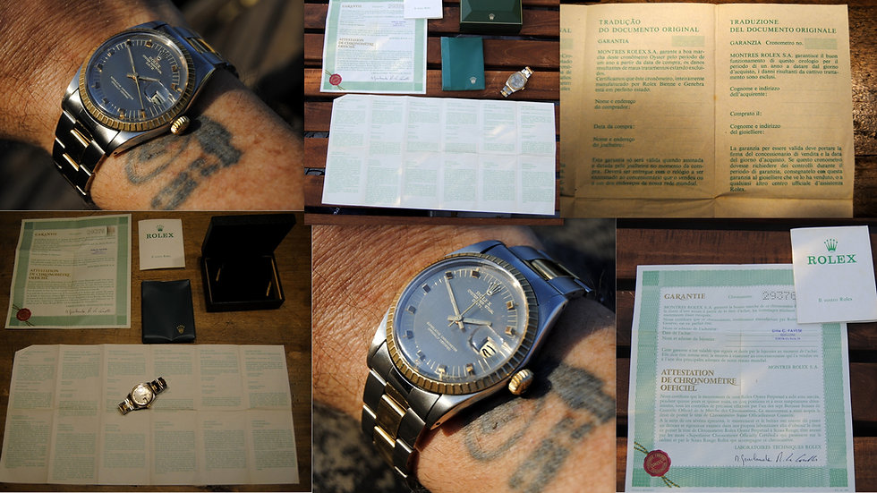 Rolex Full Set 1st Owner Oyster Perpetual Date Chronometer 1972 Superb Dial