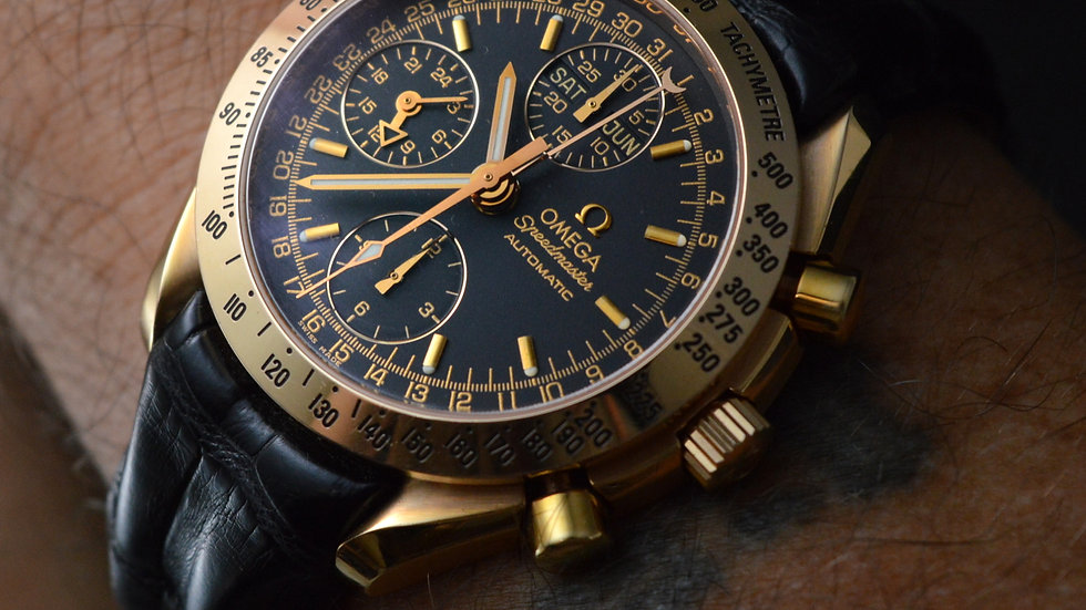 Omega Speedmaster Day Date 18k Rose Gold Automatic 40mm Top Condition
