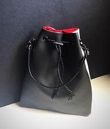 Black & White Faux Leather Wristlet