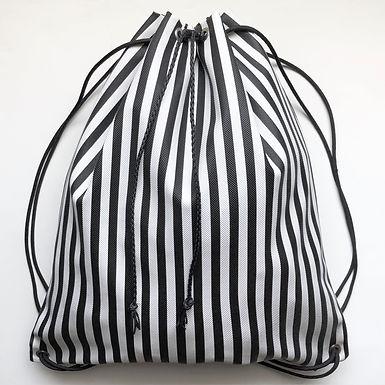 """Stripes"" Vinyl Drawstring Backpack"