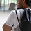 Thumbnail: Mini BasketWeave Faux Leather Drawstring Backpack