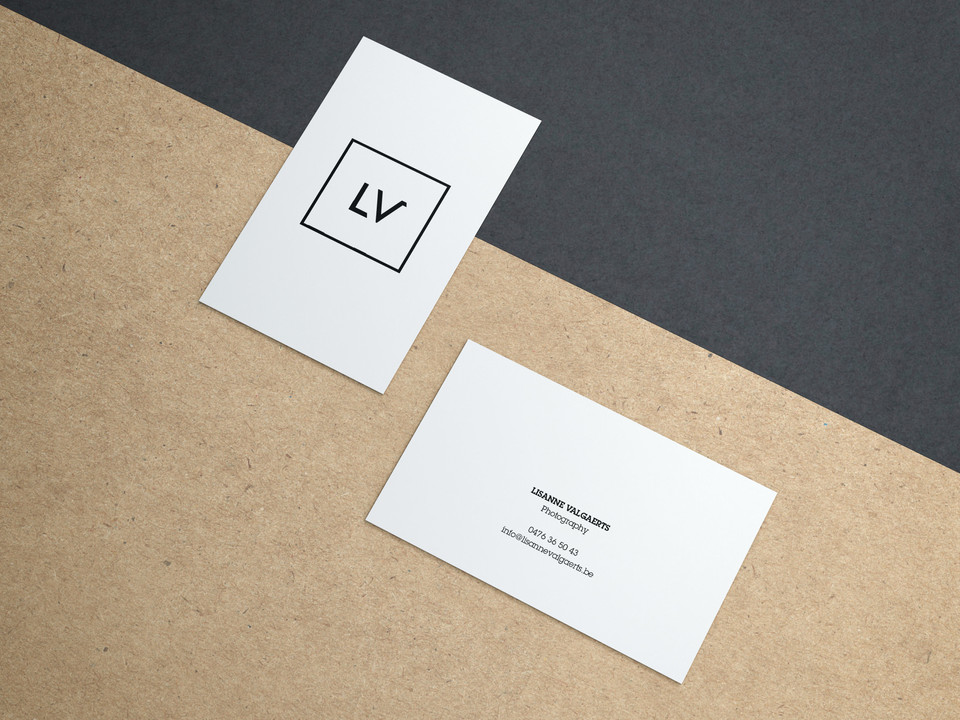 Free Business Cards on Kraft Paper Mocku