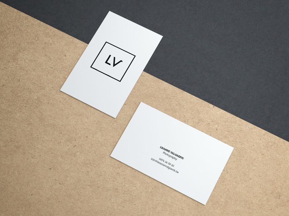 Free Business Cards on Kraft Paper Mocku