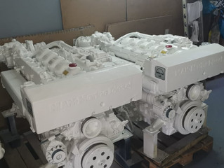 2x MAN Marine D2866LE405 reman engines 449 kW/  610 HP  @2200 RPM
