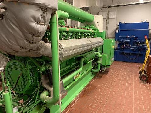 1,0 MW gas generator set Jenbacher J320 overhauled + HEAT EXCHANGER unit used