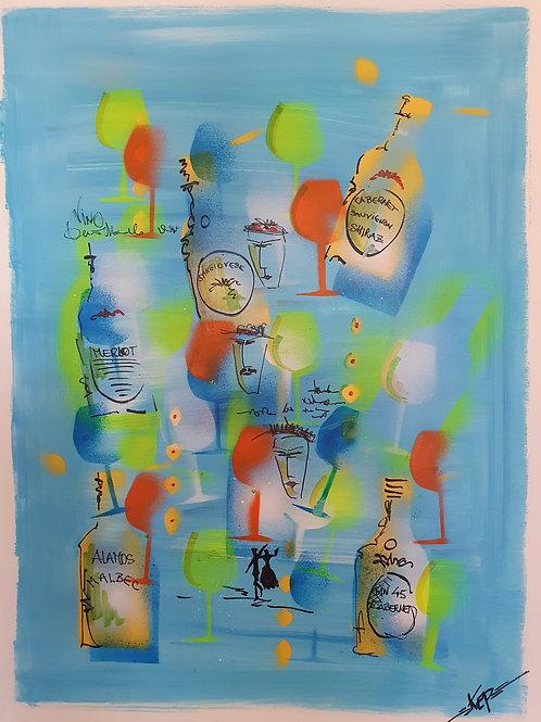 """Variation - Figurativ, KEP -  Nr 13 - """"himmelsblå"""""""