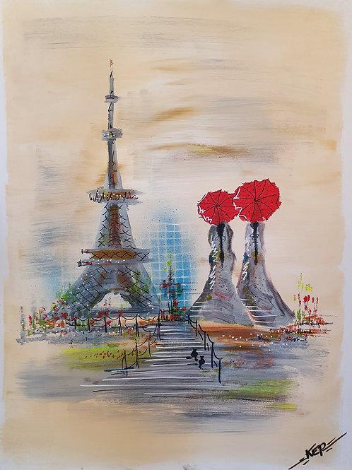 """Variation - Figurativ, KEP Nr 17 - """"Les Femmes de la Tour Eiffel"""""""