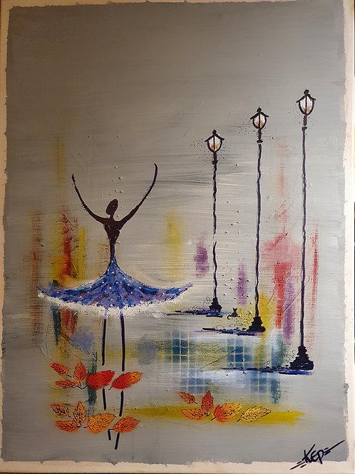 Ballerina med lyktor, KEP -  Nr x Blå kjol