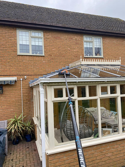 A conservatory roof being professionally