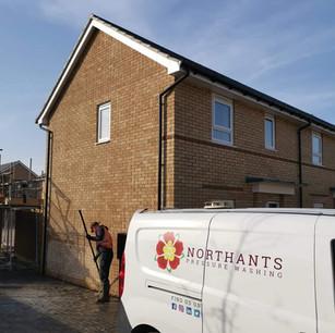 Northants Pressure Washing van on site