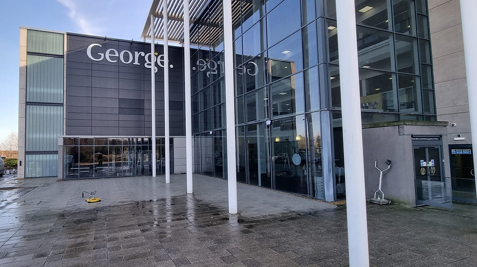 A walkway being professional cleaned by Northants Pressure Washing.JPG