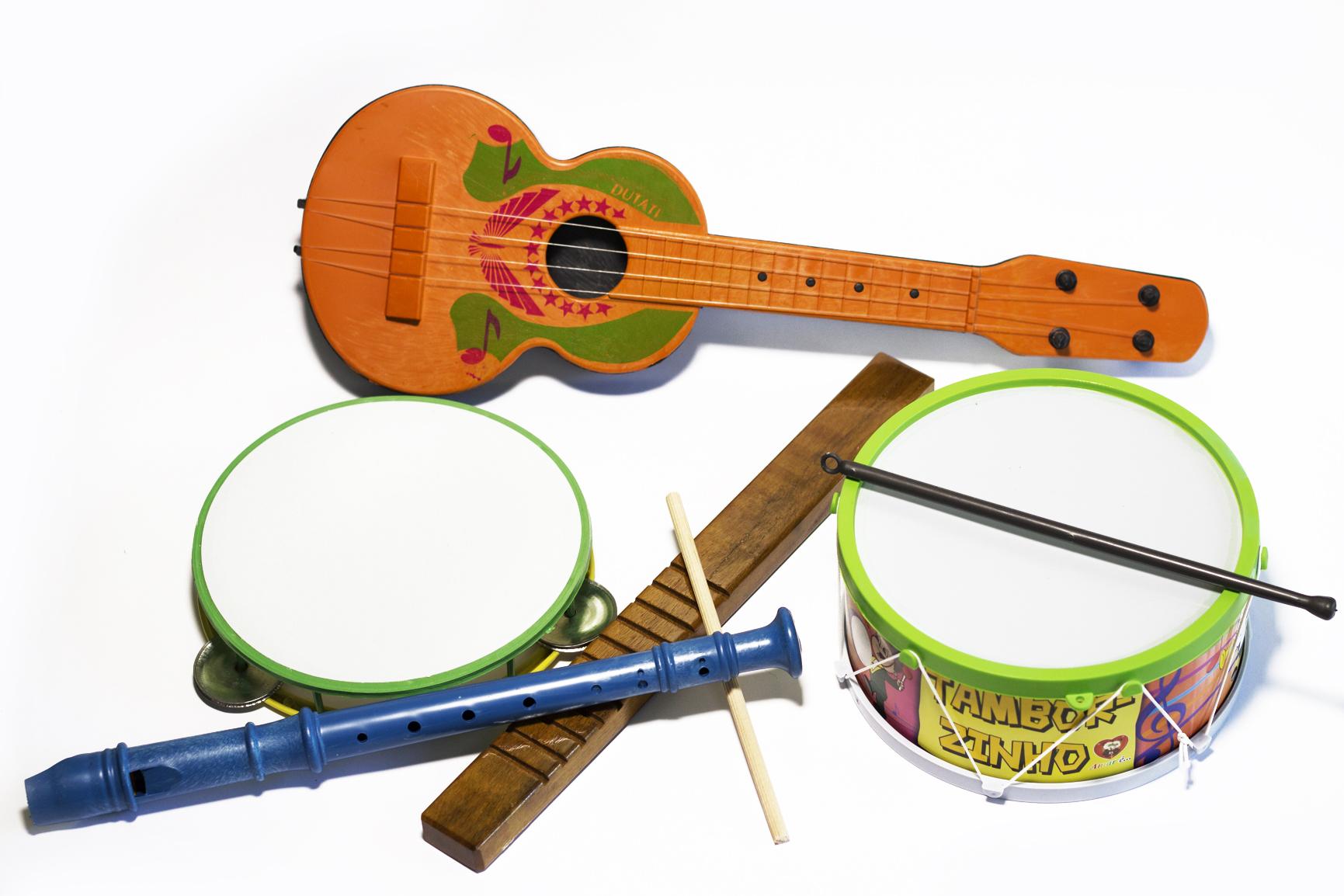 kit Musical Violão reco reco flauta