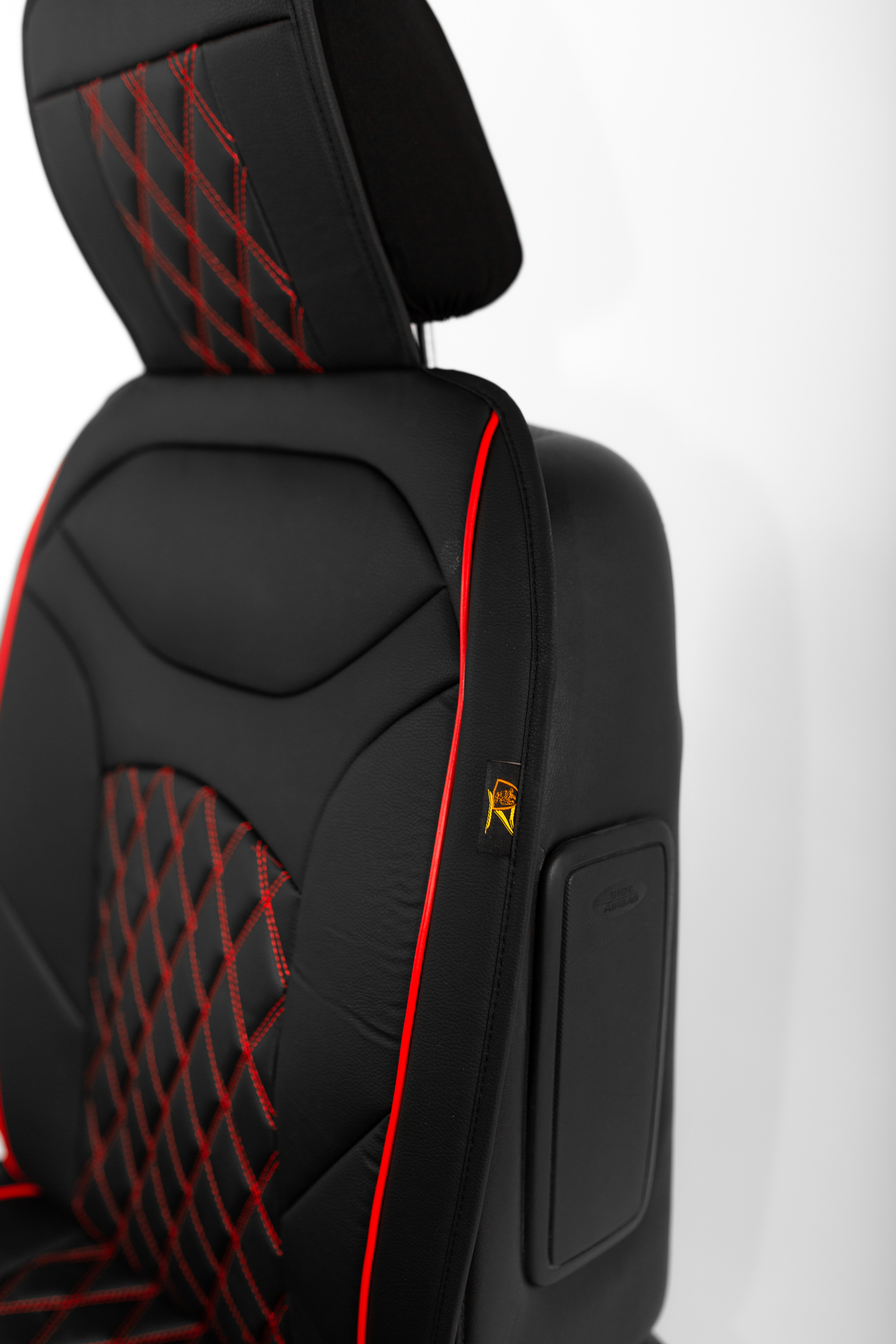ZACKAUTO Universal Leather Car Seat Cover Cushion For Front Seat Full Set 2 Pair Black//Blue