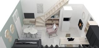 3D Réaliste d'une pièce à vivre