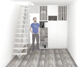 Escalier et meuble Designer sur mesure
